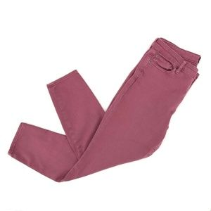 Gap Denim Mid Rise Skinny Jeans Sz 30 Pink Stretch